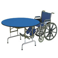 "48"" Round Folding Table with Colored Tops, T10020"