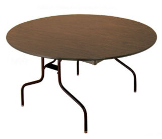 "Melamine Round Folding Table 60"" Diameter, T10047"