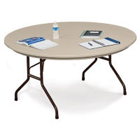 "60"" Round Blow-Molded Folding Table, T11234"