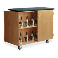 Rolling Microscope Storage Cabinet, L70016