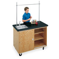 Mobile Biology Lab Demonstration Table with Sink, L70018