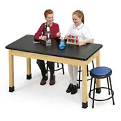 "Epoxy Resin Science Lab Table 24"" Wide x 54"" Long, L70012"