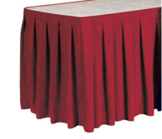 "Box Style Table Skirting 21'6"" Long, D92178"