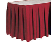 Box Style Table Skirting 15' Long, D92174