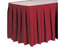 "Box Style Table Skirting 17'6""' Long, D92176"