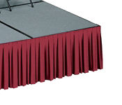 Box-Pleats Stage Skirting 12 inches Width  x 32 inches Height, D92218