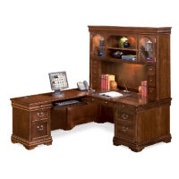 "Left Return L-Desk with Hutch - 85"" D x 72"" W, D35234"