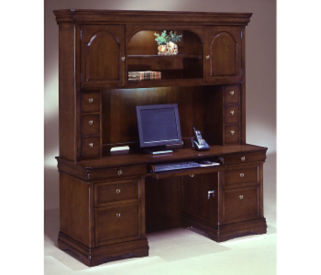 Kneehole Credenza with Hutch, D30136