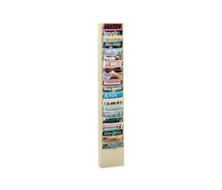 Steel Wall Literature Rack 20 Extra Large Pockets, D33005