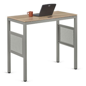"At Work Standing Height Desk in Warm Ash - 48""W x 24""D, D37523"