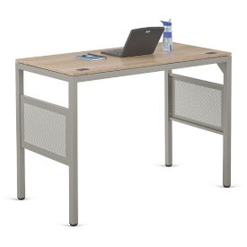 "At Work Standing Height Desk in Warm Ash - 60""W x 30""D, D37524"