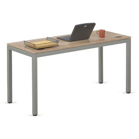 "At Work Table in Warm Ash - 72""W x 20""D, T11874"
