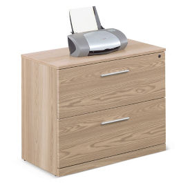 "At Work Two Drawer Lateral File in Warm Ash - 36""W, L40840"