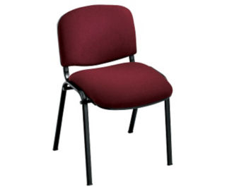 Armless Fabric Stack Chair, C60191