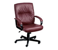 Mid Back Leather Chair, C80064
