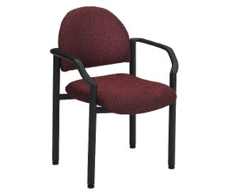 Large Guest Chair in Designer Fabric or Polyurethane, C80287