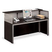 "At Work Straight Reception Desk 72""W x 29""D, D35199"