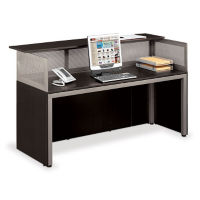 "At Work Straight Reception Desk 72""W x 29""D, D35199"