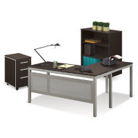 L-Desk and Bookcase, D35235