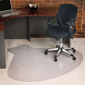 "Teardrop Shaped Chair Mat - 54"" x 60"", W60698"