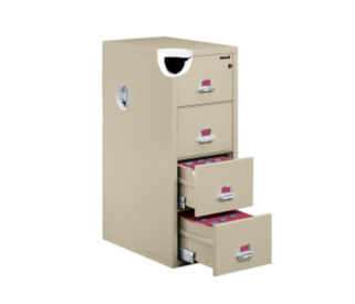 "Letter Size Fire Proof File with 4 Drawers 31"" deep, D34037"
