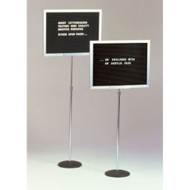 Open Face Letterboard 24wx18h on Pedestal, B21012