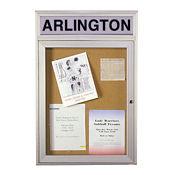 "Bulletin Board with Header 24""x36"", B20478"