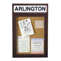 "24"" x 36"" Bulletin Board with Illuminating Header, B20503"