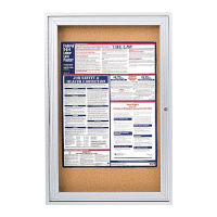 "Indoor Satin Aluminum Bulletin Board 24""x36"", B20520"