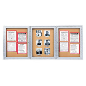 "Indoor Satin Aluminum Bulletin Board 72""x36"", B20526"