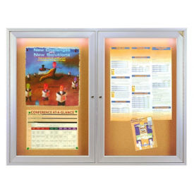 "Bulletin Board with Light 48"" x 36"", B20560"