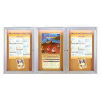 "Bulletin Board with Light 96"" x 48"", B20563"