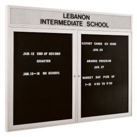 "Indoor Directory Board with Header 60"" x 48"", B20583"