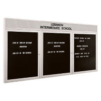 "Indoor Directory Board with Header 96"" x 48"", B20586"