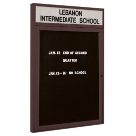 "Indoor Bronze Directory Board with Header 30""x36"", B20588"