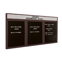 "Indoor Bronze Directory Board with Header 96"" x 48"", B20595"