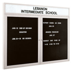 "Indoor Alum Directory Illuminated Header 48"" x 36"", B20598"