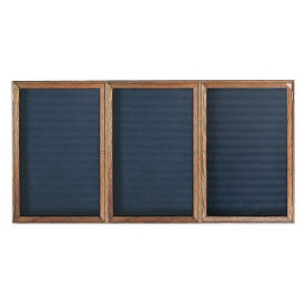"Walnut Frame Indoor Directory Board 96""x48"", B20656"