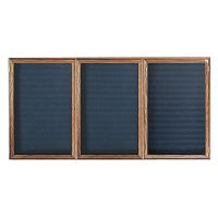 "Oak Frame Indoor Directory Board 96""x48"", B20646"