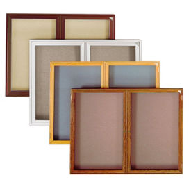 "Bronze Tone Fabric Tackboard 48""wx36""h, B20672"
