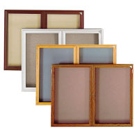 "Oak Frame Fabric Tackboard 48x36"", B20682"