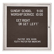 "Outdoor Directory Board 18""wx24h, B20710"