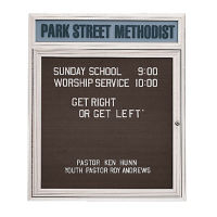 "Outdoor Letterboard with Header 24""W x 36""H, B20802"