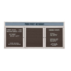 "Outdoor Letterboard with Header 72""W x 48""H, B20807"