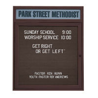"Outdoor Letterboard with Header 24""W x 36""H, B20809"