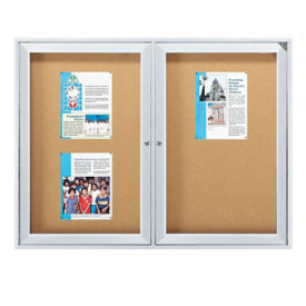 "Outdoor Bulletin Board 72""x36"", B20737"