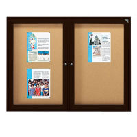 "Outdoor Bulletin Board Bronze Tone 24""wx36""h, B20741"