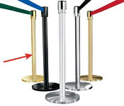Mirror Brass Post with 7' Strap, G10045