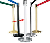 Satin Aluminum Post with 12' Strap, G10046