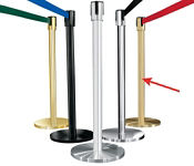 Satin Brass Post with 12' Strap, G10048
